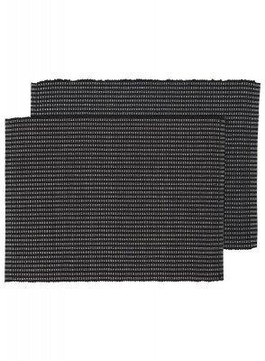 HEMA HEMA Placemats - 42 X 32 - Katoen - Zwart - 2 Stuks (zwart)