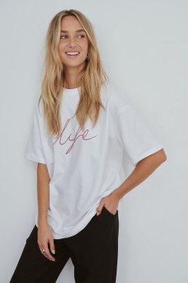 NA-KD Reborn Organisch T-shirt Met Logo - White