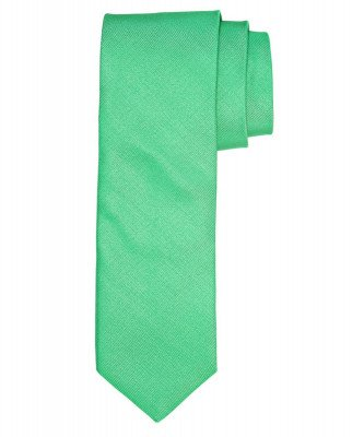 Profuomo Profuomo heren groen ribs zijden stropdas