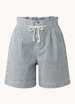 BAenSH ba&sh Osiris high waist wide fit korte broek met streepprint