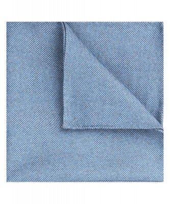 Profuomo Profuomo heren blauwe katoen-blend pochet