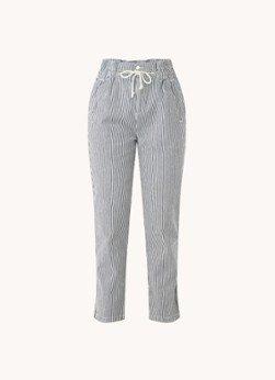 BAenSH ba&sh Orsay high waist straight fit cropped pantalon met streepprint