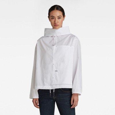 G-Star RAW Long Sleeve Mock Neck Shirt - Wit - Dames