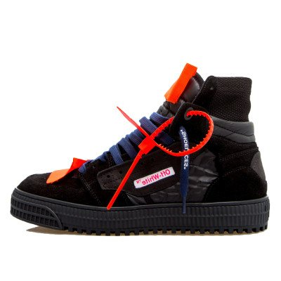 Off-White Off-White Off-Court 3.0 High Top Sneaker Triple Black Navy Blue (2019)