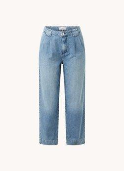 BAenSH ba&sh Saxo high waist loose fit broek van denim met steekzakken