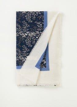 Marc O'Polo Marc O'Polo Sjaal met bloemenprint 190 x 105 cm