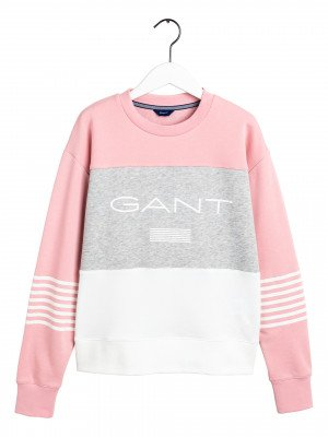 GANT GANT Logo Sweater D1. Gant Stripe C-Neck Sweat 4204682