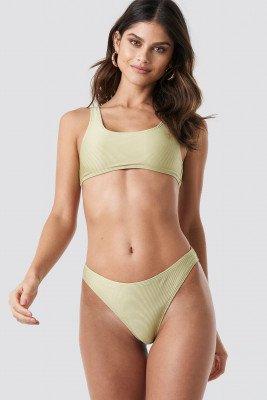 NA-KD Swimwear NA-KD Swimwear Ribbed Sporty Bikini Bottom - Green