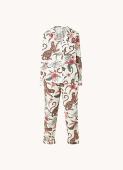 Desmond en Dempsey Desmond & Dempsey Soleia pyjamaset van biologisch katoen