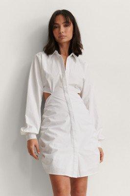 NA-KD Trend NA-KD Trend Organisch T-shirtjurkOrganisch T-shirtjurk - White