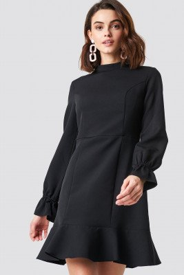 Trendyol Trendyol Milla Fly Mini Dress - Black