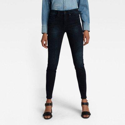 G-Star RAW Lhana Skinny Jeans - Donkerblauw - Dames