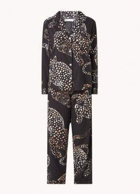 Desmond en Dempsey Desmond & Dempsey The Jag pyjamaset met panterprint