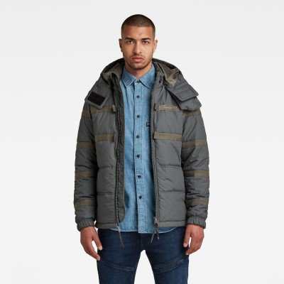 G-Star RAW Attac Tape Quilted Padded jack - Grijs - Heren