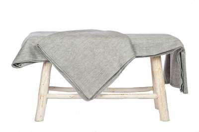 EcuaFina Alpaca Woondeken - plaid - 165 cm x 230 cm - Grijs