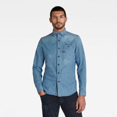 G-Star RAW Bristum Slim Shirt - Midden blauw - Heren