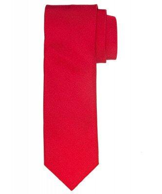 Profuomo Profuomo heren rood ribs zijden stropdas