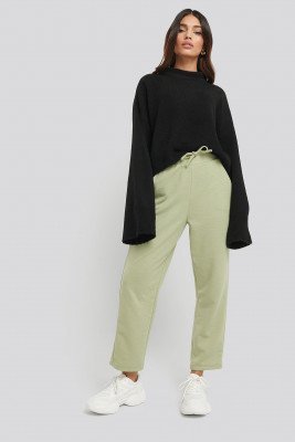 NA-KD Basic Basic Slip Pants - Green