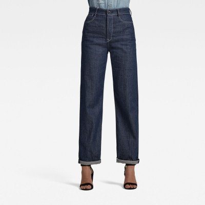G-Star RAW Tedie Ultra High Long Straight Jeans C - Donkerblauw - Dames