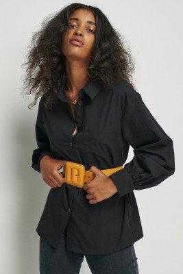 nu-in 100% Organic Balloon Sleeve Pocket Shirt