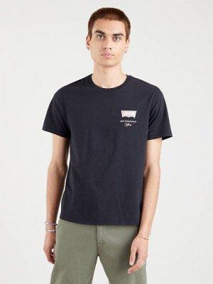 Levi's Graphic Housemark T shirt - Zwart / Caviar