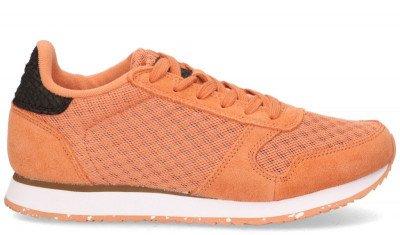 Woden Woden Ydun Suede Mesh II Oranje Damessneakers