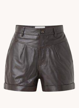 BAenSH ba&sh Leandro high waist loose fit korte broek van lamsleer