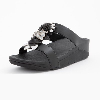 FitFlop FitFlop Fino Floral Cluster slippers zwart