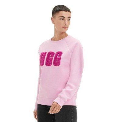 UGG UGG Madeline Fuzzy Logo Crewneck Roze Damessweater