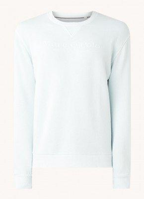 Marc O'Polo Marc O'Polo Sweater van biologisch katoen met logoprint