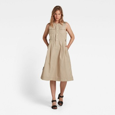 G-Star RAW Jurk Fit And Flare - Beige - Dames
