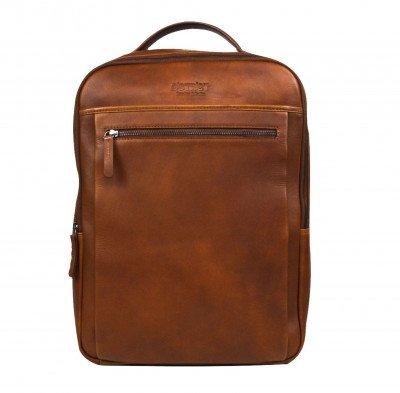 DSTRCT DSTRCT Premium 15,6 inch Laptop Rugtas Cognac