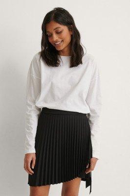 NA-KD NA-KD Wrap Pleated Mini Skirt - Black