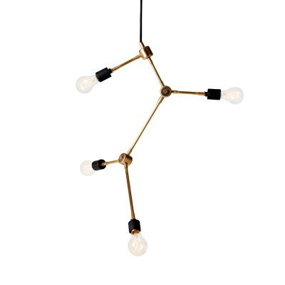 Menu Menu Franklin hanglamp, messing, 4-lamps