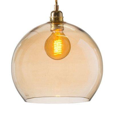 EBB & FLOW Rowan hanglamp goud/goud-rook Ø 28cm
