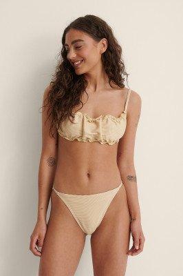 NA-KD Swimwear NA-KD Swimwear Bikinibroekje Met Dunne Bandjes - Beige