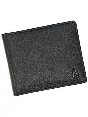 Nixon Nixon Pass Leather Coin Wallet zwart
