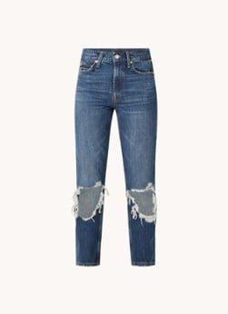Maje Maje Peterson high waist tapered cropped ripped jeans