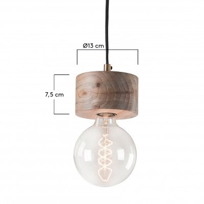 Kave Home Kave Home hanglamp 'Allie' hout