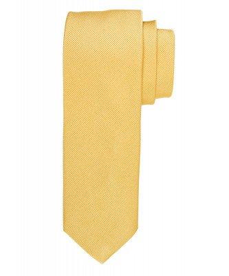 Profuomo Profuomo heren gele uni zijden stropdas