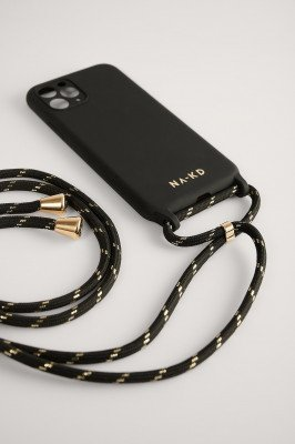NA-KD Accessories NA-KD Accessories Cord Strap Phone Case - Black