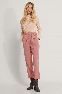 NA-KD NA-KD Broek Met Elastische Taille - Pink