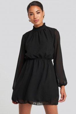 Trendyol Collar Detailed Dress - Black