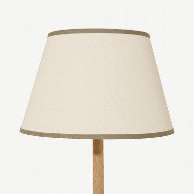 MADE.COM Larue tapstoelopende lampenkap, 35 cm, roomwit en groen