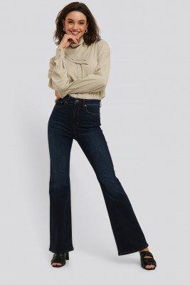 NA-KD NA-KD Skinny Flare Jeans - Blue