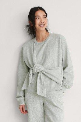 NA-KD Trend NA-KD Trend Sweatshirt Met Knoopdetail - Grey