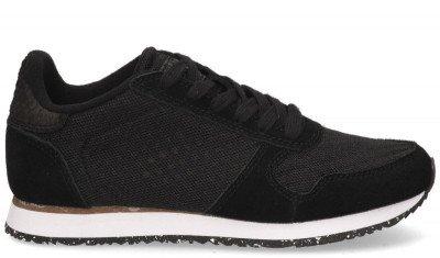 Woden Woden Ydun Suede Mesh WL030 Zwart Damessneakers