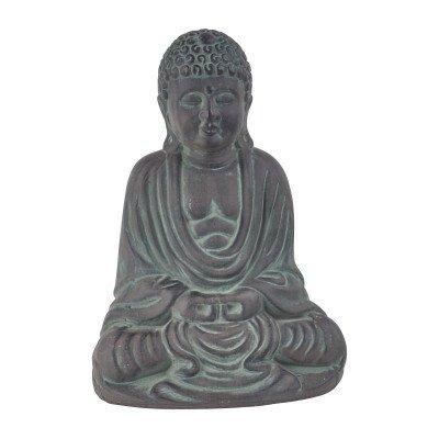 Xenos Zittende boeddha - donkergrijs - 30 cm