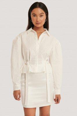 Emma Ellingsen x NA-KD Emma Ellingsen x NA-KD Getailleerd Oversized Shirt - White