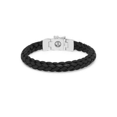 Buddha to Buddha Buddha to Buddha Armband Mangky Small Leer zwart